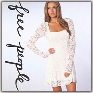 Free People Flirt For You Flare Dress